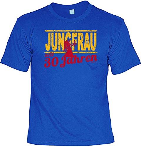 T-Shirt - Sternzeichen-Shirt Jungfrau seit 30 Jahren - das besondere Shirt mit lustigem Print als ideales Geburtstagsgeschenk für Leute mit Humor