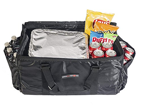 Insulated Food Delivery Bag - Commercial Quality Thermal Food Transport Bag - 22'' x 14'' x 11'' - Extra Strong Zipper With Thick Insulation Carrier - Large Black by DeliveryPizzaBags (Image #3)