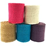 Trimweaver Solid Color Burlap Ribbon Variety Pack for Craft