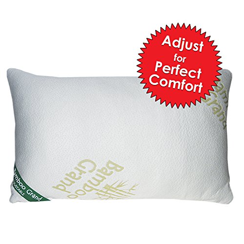 bamboo-adjustable-shredded-memory-foam-pillow-firm-micro-vented-bamboo-cover-with-zipper-hypoallerge