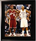 LeBron James and Carmelo Anthony Signed 16x20 Framed Photo Upper Deck