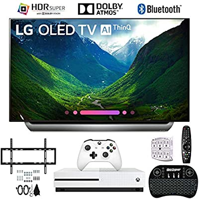 LG OLED55C8PUA 55 C8 OLED 4K Ultra HD AI TV with Xbox One S 1TB and Wall Bracket Bundle