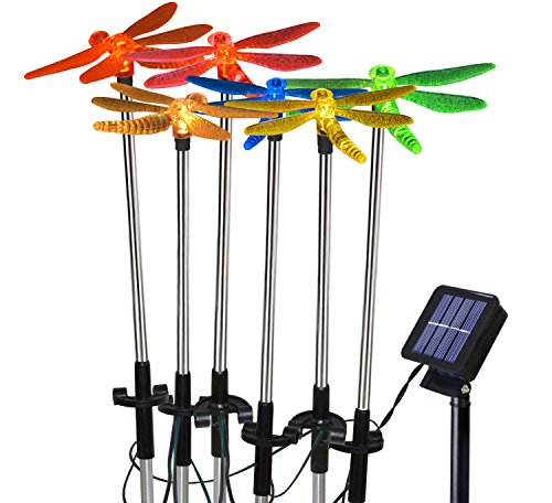 Solarmks Solar Powered Lights with Color Changing LED Landscape Lights , Garden Stake Lights of Dragonfly for Outdoor Garden Decoration