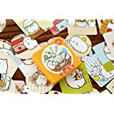 "Haiker 2 Pack of 46 Pcs Lovely Cute ""Molang Rabbit"" Calendar Diary Book Envelope Label Sticker Scrapbook Decoration Sticker"