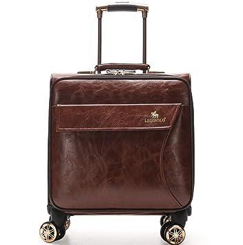 TINGITNG Hardside Luggage Spinner Maleta De Equipaje De Cabina De 16 Pulgadas Hardside Carretilla De Viaje Rígida 4 Ruedas TSA TSA,Vintage: Amazon.es: ...