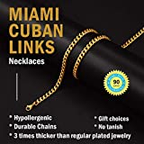 Gold Link Chain Male Custom Cuban Link Gold Chain