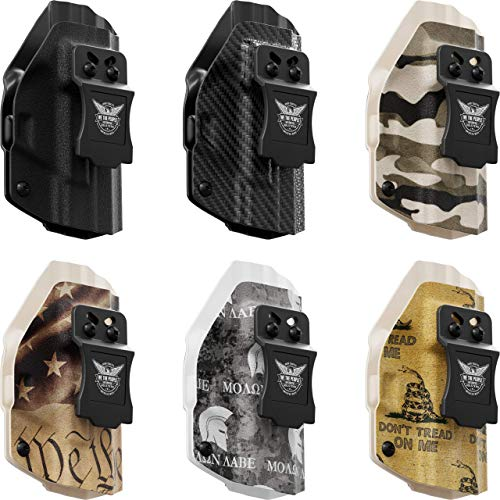 We The People - IWB Holster Compatible with Smith & Wesson SD9/SD40 VE Gun  - Inside Waistband Concealed Carry Kydex Holster (Right Hand, Carbon Fiber)