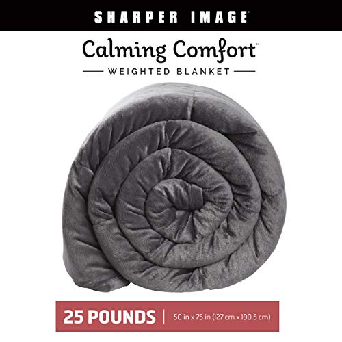 Allstar Innovations Calming Comfort Weighted Sharper Image-A Heavy Blanket| 50 x 75, Grey, 25 Pound