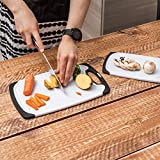 Set of 3 Plastic Cutting Boards - Dishwasher Safe
