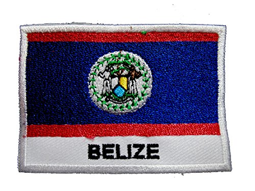 Belize Belizean National Flag Sew on Patch Free Shipping
