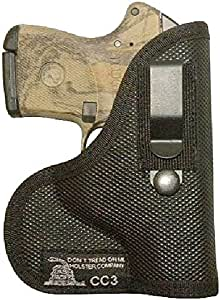 Don't Tread on Me Conceal and Carry Holsters DTOM Combination Pocket/IWB Holster for Keltec P32 P3AT, Taurus 738 TCP 380, Ruger LCP 380, CC3 -Right Handed IWB