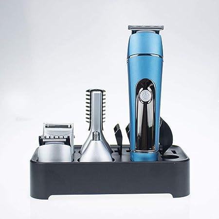 DOLA 5 en 1 Recortadora Todo en uno, Máquina Recortadora Barba y Cortapelos, Recortador Vello de Nariz y Orejas, con Pantalla LCD,Azul: Amazon.es: Hogar