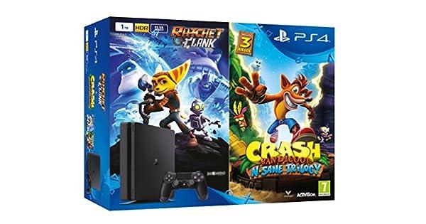 PlayStation 4 (PS4) - Consola de 1 TB + Crash Bandicoot N. Sane ...