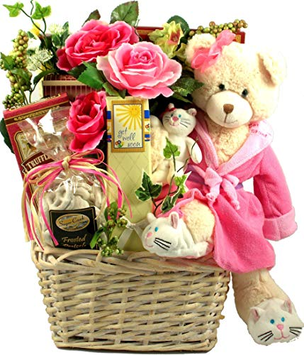 ''Beary Special Get Well Wishes'', with Recuperate Kate - A Get Well Gift Baket With 15