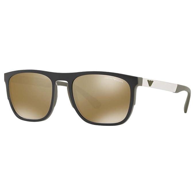 Emporio Armani 0EA4114, Gafas de Sol para Hombre, Matte Olive, 55
