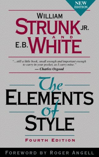 elements of style value package includes brief new century handbook