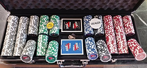 Full Tilt Poker Chip Set 500 pcs 11.5 Grams Clay Casino Chips By American Gaming Suppply, inc