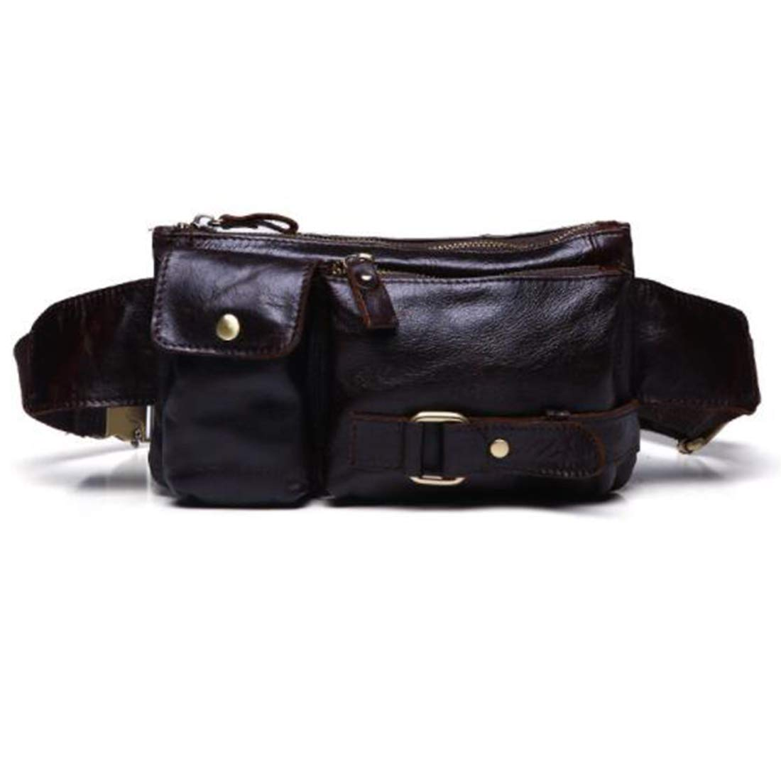 Adams chad West Bag West Pouch Body Bag Out Genuine Leather for Exercise for Men Color : Gray