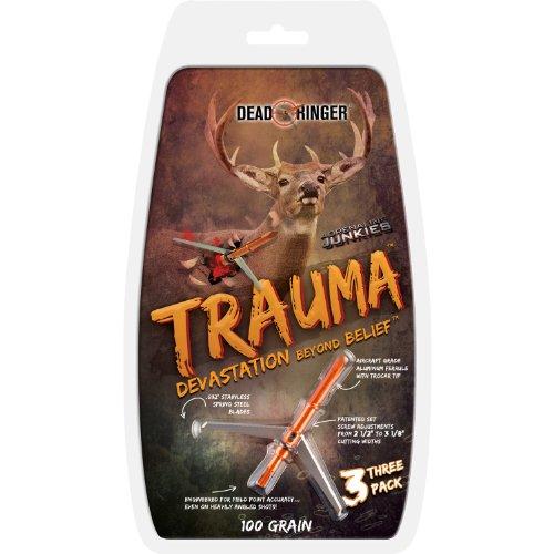 Dead Ringer Trauma 100 Grain 2-Blade for Broadheads (3-Pack), 2-Inch