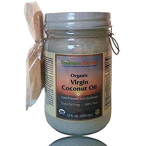 Organic Virgin Coconut Oil. 100% Pure, Cold Pressed, Unrefined & NON GMO. Natural Scooper & FREE ebook''Best Uses & Recipes.'' Great for Baking, Cooking, Popcorn, Moisturizing, Oil Pulling or Dog by Southern Zoomer