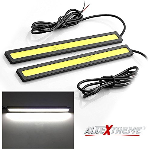 AllExtreme EX6WDRL Universal Ultra Bright Daytime Running LED Lights Waterproof Slim Chip COB LEDs Strip DRL Lamp for…
