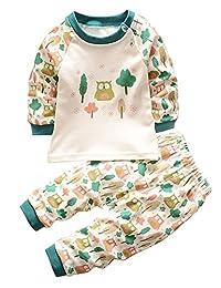 Unisex Baby Pajamas Toddler Sleepwear Clothes Tops/Pants Set size 1Y-4Y
