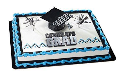 Congrats Grad with Black Cap Graduation Cake Kit
