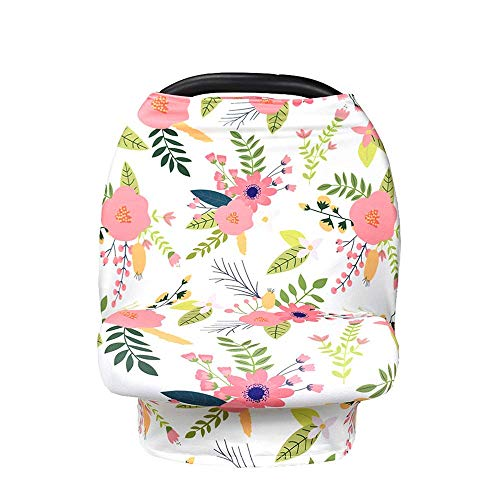 LiiZee Multi-Use Privacy Nursing Cover for Baby Breastfeeding, Baby Car Seat Covers, Infant Stroller Cover, Car Seat Canopy -