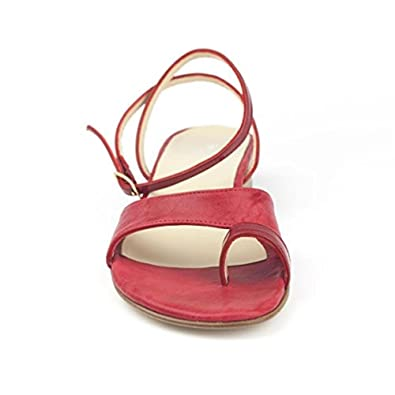 330b5a04b3af Piccirillo Artigiani Handmade Woman Thong Sandal in Genuine Red Leather   Amazon.co.uk  Shoes   Bags