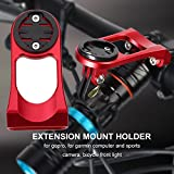 Bicycle Computer Mount Out Front Bike Mount Bicycle Handlebar Computer Mount Holders Stem Extension Bracket for Garmin Edge 200, 500, 510, 800, 810, 1000 GPS Cycling Computers & Sports Camera (Red)