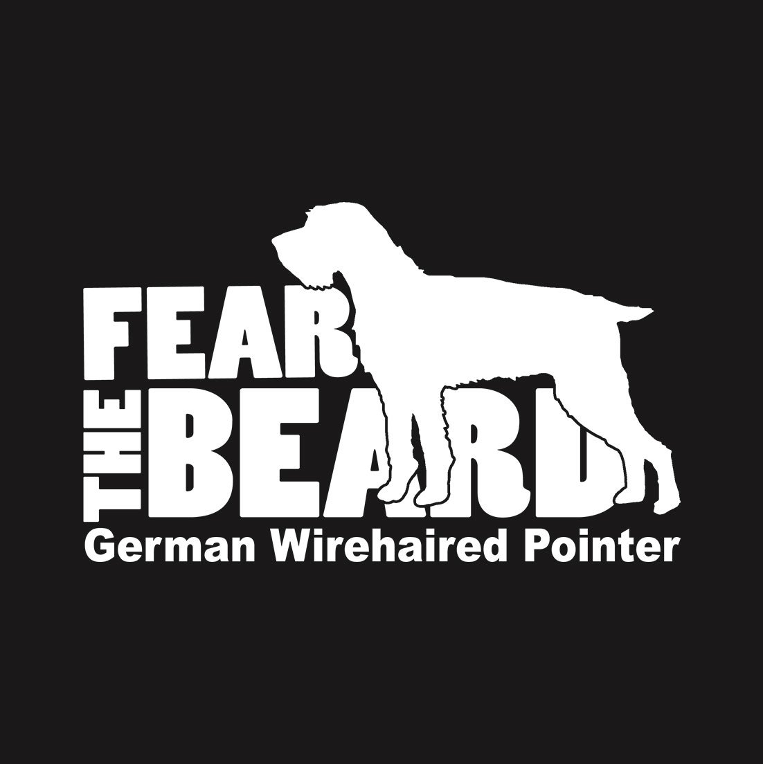 Amazon.com: Fear the Beard: German Wirehaired Pointer (GWP) Car ...