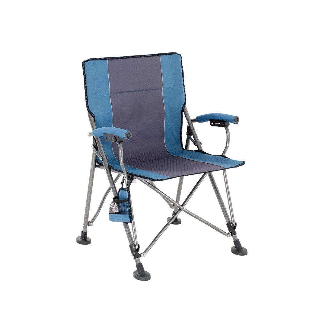 QRFDIAN Im Freien Klappstuhl Licht Recliner zufällige Schauspieler Stuhl Mazar Strand Angeln Stuhl Skizze Stuhl tragbaren Stuhl (Farbe : Blau, größe : 60  60  89cm)