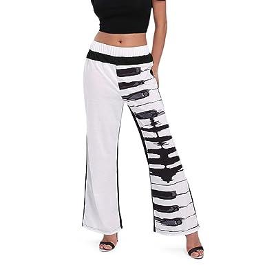 Survêtement Femme Pantalon de Jogging Droite,OverDose Été Sport Pantalons  Large Coton Confort Casual Élastique 5f6b92548046