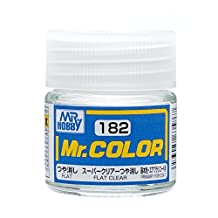 Gundam Mr.color 182 - Super Clear Flat Paint 10ml. Bottle Hobby by Mr. Hobby