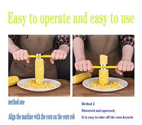 Corn Slicer Peeler Thresher Stainless Steel Corn on The Cobb Holders Corn Shucker Kitchen Cooking Tools,Easy to Operate and Clean, Reusable and Durable (Corn On The Cob Machine)