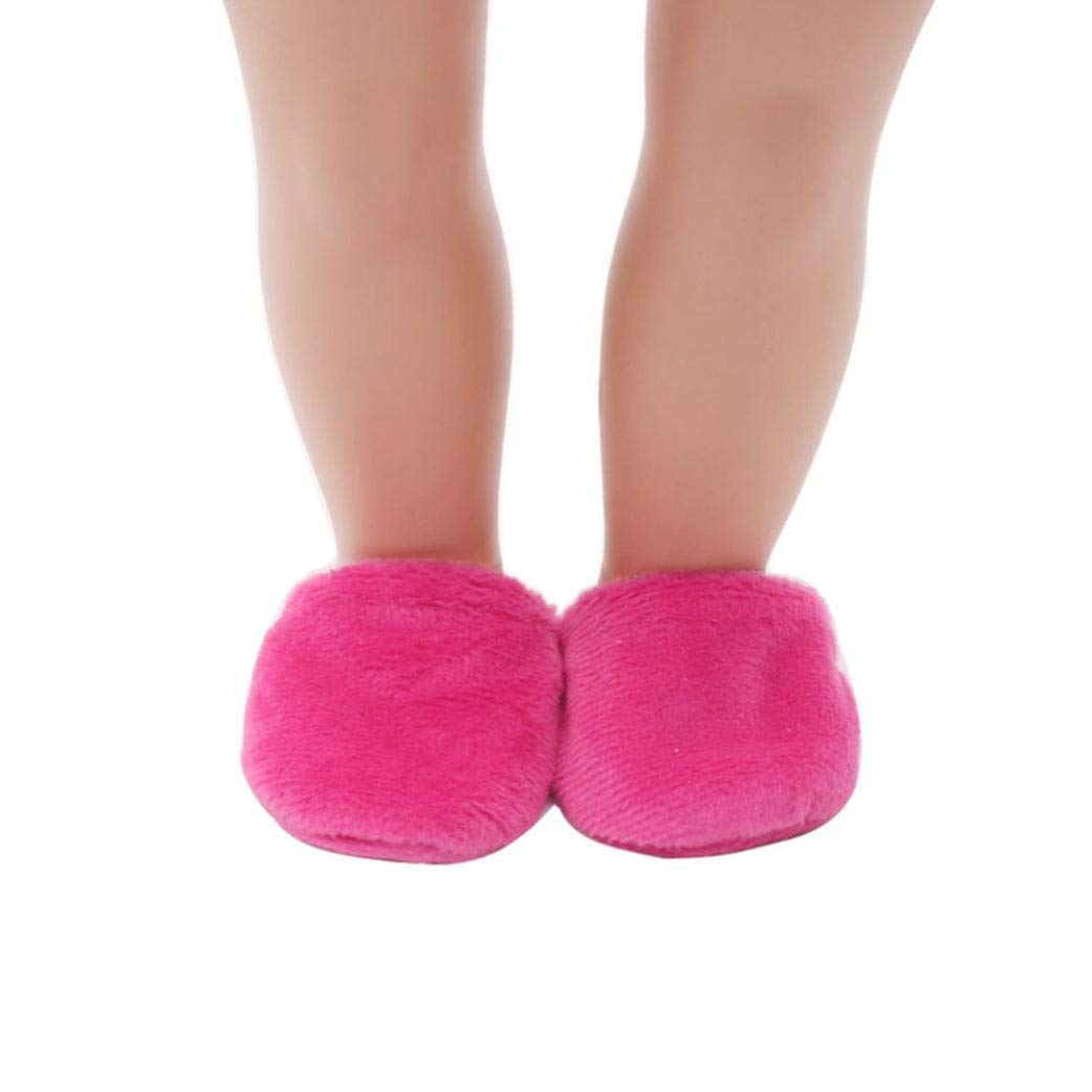 """Hot Pink Moccasin Slippers 18/"""" Doll Clothes Fit American Girl Dolls"""