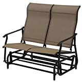 T-foot 2 Person Patio Glider Rocking Bench Double Chair Loveseat Armchair Garden Swing Bench