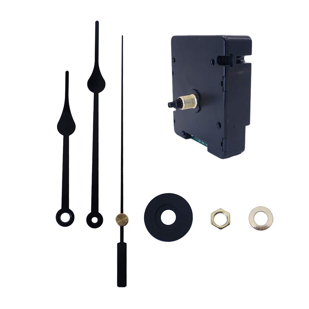 Funk-Uhrwerk mit Uhrzeigerset Funkuhrwerk Uhrwerk f/ür Wanduhr zum Basteln Achsl/änge 17mm Funkuhr