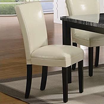 Amazon.com - Coaster Set of 2 Parson Dining Chairs in Cream ...