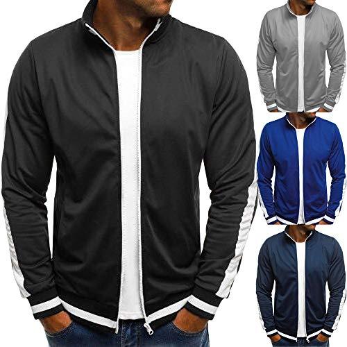 Gillberry Men's Winter Solid Casual Long Sleeve Coat Zipper Jacket