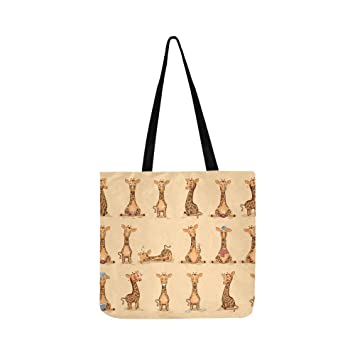 Cartoon Cute Giraffe Canvas Tote Bolso Bandolera Bolsos ...