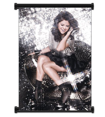 Selena Gomez Cute Pop Star Fabric Wall Scroll Poster (16