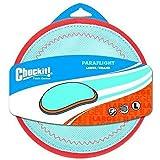New Chuckit! Dog Fetch PARAFLIGHT Far Flying Disc Frisbee...