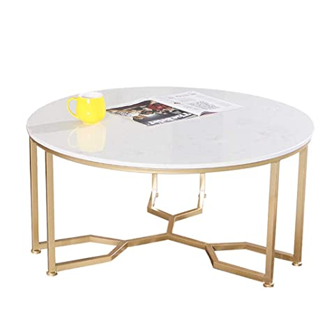 Round Coffee Table Gold Legs 11
