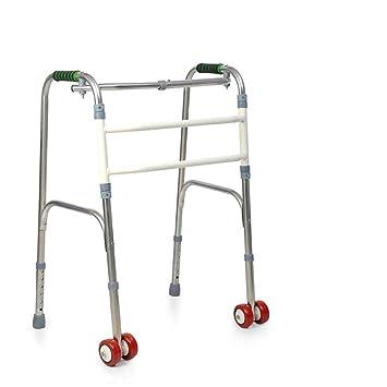 Andador de acero inoxidable para los ancianos caminando auxiliar ...