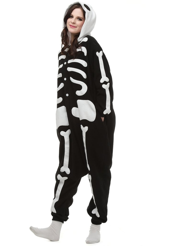 Love Millie Kigurumi Animal Cute Adult Onesie Pajamas Costume Cosplay Skeleton M