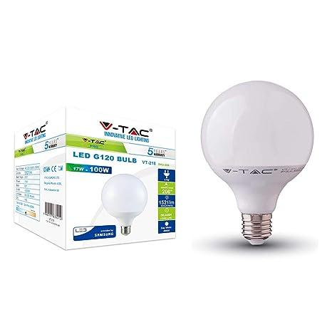 bombilla LED 17 W Globo G120 Chip Samsung V-TAC Pro Casquillo E27 vt-