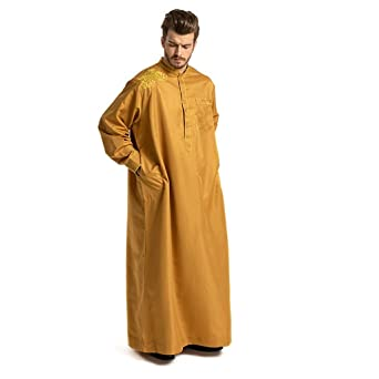 NPRADLA Large Falda Hombres túnicas étnicas de Manga Larga ...