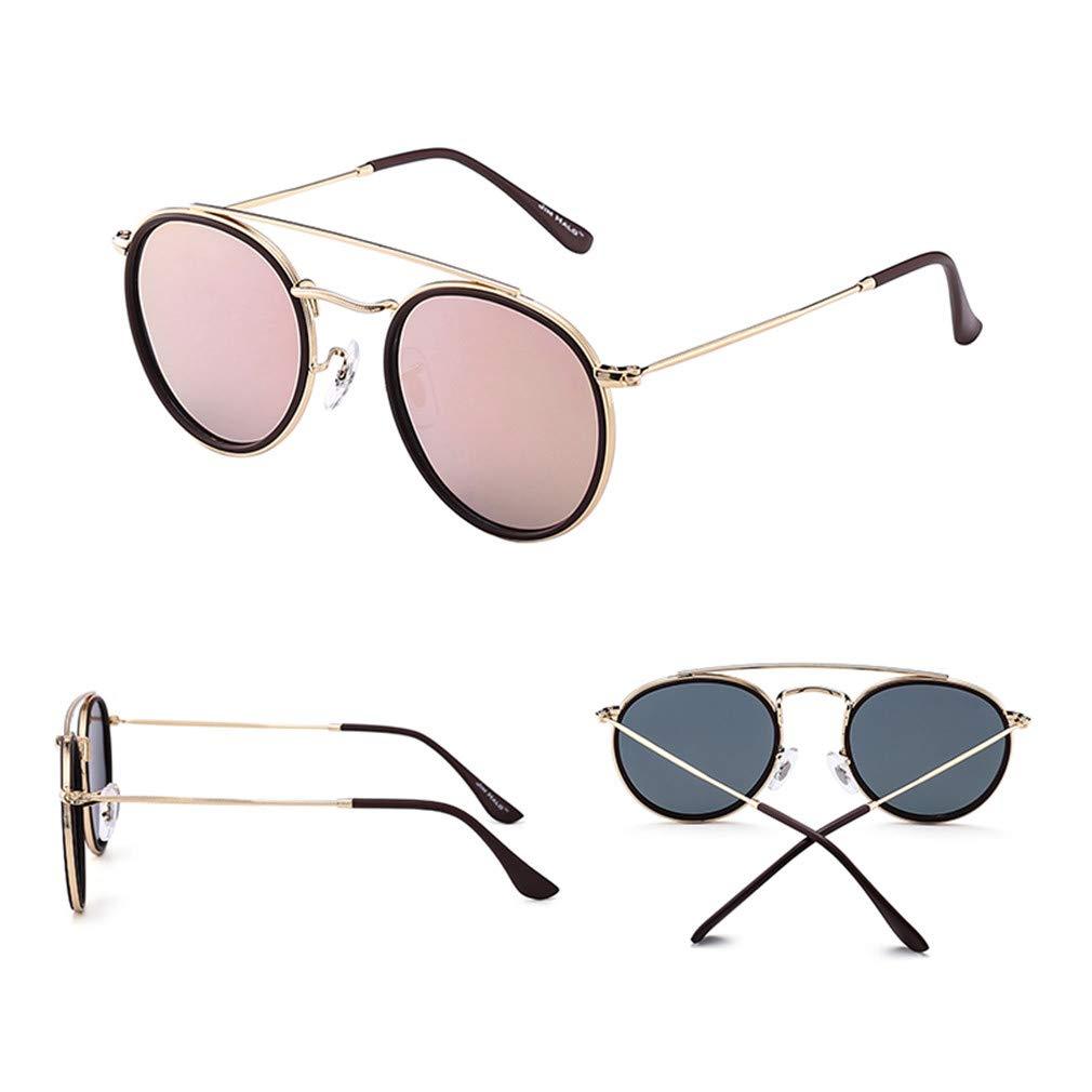 58b76f01419d Amazon.com: Round Polarized Sunglasses Metal Frame Mirrored Flat Circle  Lens Men Women Retro Vintage Oculos Steampunk Sun Glasses Blue: Sports &  Outdoors