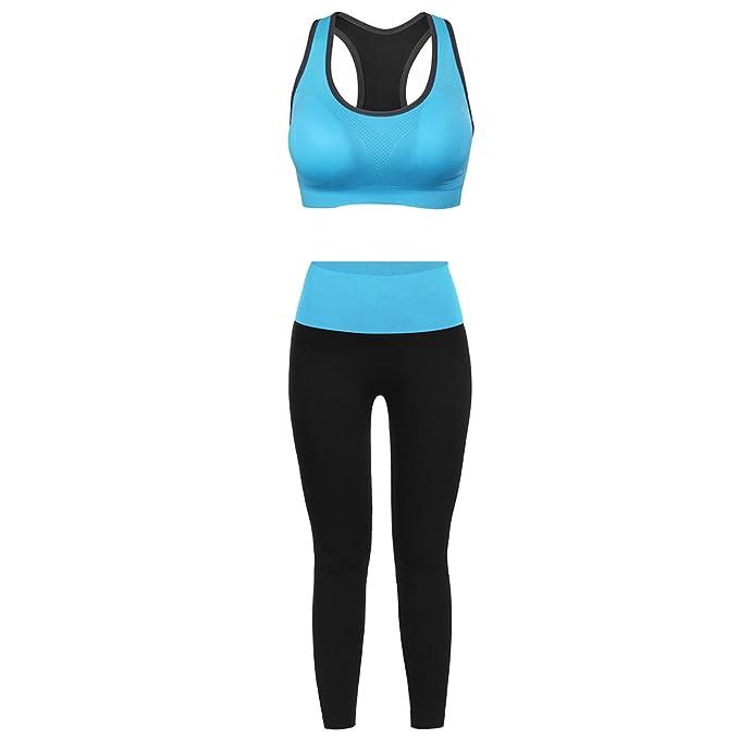 Fitibest Vestiti Sportivi Reggiseno Sportivo e Pantaloni per Yoga  Traspiranti per Donne (S 77422e7163b